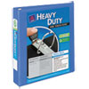 "Heavy-Duty View Binder w/Locking 1-Touch EZD Rings, 1 1/2"", Periwinkle"