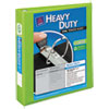 "Heavy-Duty View Binder w/Locking 1-Touch EZD Rings, 1 1/2"", Chartreuse"