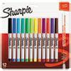 Permanent Markers, Ultra Fine Point,, Assorted Colors, 12/Pack 37175PP