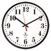 Quartz Slimline Clock, 12-3/4, Black