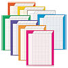 Vertical Incentive Chart Pack, 22w X 28h, 8 Assorted Colors, 8/pack