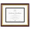 Document/certificate Frame W/mat, Plastic, 11 X 14, 8 1/2 X 11, Mahogany/gold