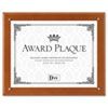 Plaque-In-An-Instant Kit W/certs & Mats, Wood/acrylic, Up To 8 1/2 X 11, Walnut