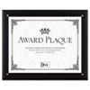 Award Plaque, Wood/acrylic Frame, Up To 8 1/2 X 11, Black