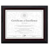 Stepped Award/certificate Frame, 8 1/2 X 11, Black W/walnut Trim