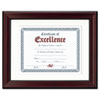 Rosewood Document Frame, Wall-Mount, Plastic, 11 X 14, 8 1/2 X 11