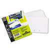 TELINDEX® clear, double-sided business card sleeves hold two cards each and are slotted to fit TELINDEX® and VISIFIX® flip rotary and desk card management systems.