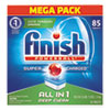Powerball Dishwasher Tabs, Fresh Scent, 85/box, 4 Boxes/carton