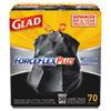 FORCEFLEXPLUS DRAWSTRING LARGE TRASH BAGS, 30 GAL, BLACK, 70/BOX