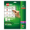 Removable Multi-Use Labels, 1 Dia, White, 945/pack