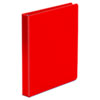 """ECONOMY NON-VIEW ROUND RING BINDER, 3 RINGS, 1"""" CAPACITY, 11 X 8.5, RED"""