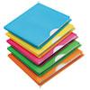 Glow Poly File Jacket, Letter, Polypropylene, Assorted, 5/pack
