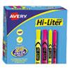 Hi-Liter Desk/pen-Style Combo Highlighter, Chisel/bullet, Assorted Colors, 24/pk