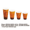 Foam Hot/cold Cups, 16oz, Brown/black, 1000/carton