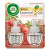 Scented Oil Refill, Warming - Apple Cinnamon Medley, 0.67oz, Orange, 2/pack