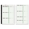 Recycled wirebound monthly/weekly planner refill.