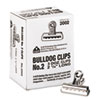 Picture of Bulldog Clips Steel 12quot Capacity 2-14quotw Nickel-Plated 36Box