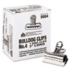 Picture of Bulldog Clips Steel 1quot Capacity 3quotw Nickel-Plated 12 per Box