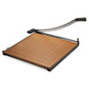 Square Commercial Grade Wood Base Guillotine Trimmer, 20 Sheets, 24 X 24