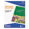 "Epson High Quality Inkjet Paper 8.5"" x 11"", 100 Sheets"