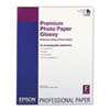 Epson® Premium Photo Paper, 68 lbs., High-Gloss, 17 x 22, 25 Sheets/Pack EPSS042092