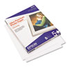 Epson® Ultra-Premium Glossy Photo Paper, 79 lbs., 8-1/2 x 11, 50 Sheets/Pack EPSS042175