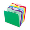 File Folders With Infopocket, 1/3 Cut Top Tab, Letter, Assorted, 30/pack
