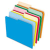 Stretch Tab File Folders, 1/2 Cut Tabs, Letter, Assorted, 100/Box