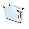 Pressboard Hanging Classi-Folder, 1 Divider/4-Sections, Letter, 2/5 Tab, Blue