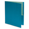 Earthwise by Oxford 100% Recycled Paper Twin-Pocket Portfolio, Blue