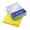 Two-Ply Reinforced File Folders, 1/3 Cut Top Tab, Letter, Yellow, 100/Box