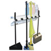 "The Clincher Mop & Broom Holder, 34""w x 5 1/2""d x 7 1/2""h, White Gloss, Each"
