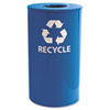 Round indoor-outdoor recycling container.