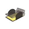 Perf-Ect Double Letter Tray, Two Tier, Wire, Black