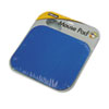 Polyester Mouse Pad, Nonskid Rubber Base, 9 x 8, Blue