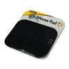Polyester Mouse Pad, Nonskid Rubber Base, 9 x 8, Black