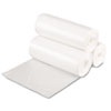 High-Density Can Liner, 17 x 17, 4gal, 6mic Equivalent, Clear, 50/Roll