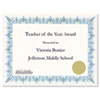 Award Certificates W/gold Seals, 8-1/2 X 11, Unique Blue Border, 25/pack