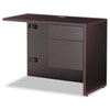 "Genoa Series ""L"" Workstation Return, Right, 40w x 20d x 29h, Dark Espresso"