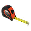 Sheffield Extramark Tape Measure, Red With Black Rubber Grip, 1 X 25 Ft