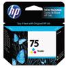 HP 75, (CB337WN) Tri-color Original Ink Cartridge CB337WN