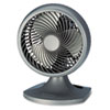 "Blizzard 9"" Three-Speed Oscillating Table/Wall Fan, Charcoal"