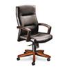 5000 Series Executive High-Back Swivel/Tilt Chair, Black Vinyl/Henna Cherry