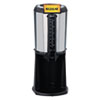 Thermal Beverage Dispenser, Gravity, 2.5L, Stainless Steel/Black