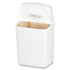 Wall Mount Sanitary Napkin Receptacle-ABS, Plastic, 1gal, White