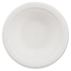 Disposable white paper plates are made from recycled fiber and are microwaveable and cut resistant.