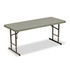 Picture of Adjustable Height Tables 72w x 30d x 25-35h Charcoal