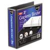 """Gapless Loop Ring View Binder, 11 x 8-1/2, 3"""" Capacity, Black"""