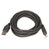 2.0 USB/Peripheral Cable, AM/BM, 10 ft, Black