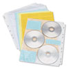 Two-Sided CD/DVD Pages for Three-Ring Binder, 10/Pack